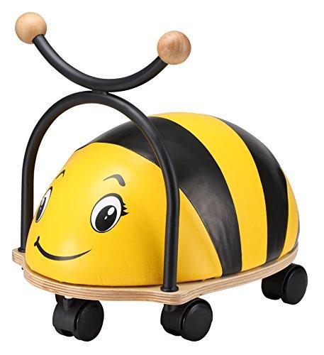 BIKESTAR Rutscher Rutschfahrzeug Rutschauto Lauflernwagen für Kinder und Kleinkinder ab 1 – 1,5 Jahre ★ Kinderfahrzeug Wheely Käfer Bug Tier mit Flüsterreifen für drinnen ★ Kleine Biene Gelb (Bug-spielzeug Für Jungen)