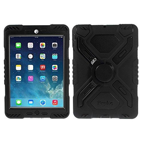Ipad Mini Case Spider (Apple iPad Mini 1 2 3 PEPKOO Tablet Tasche Outdoor Case Spider Series Silikon Heavy Schwarz)