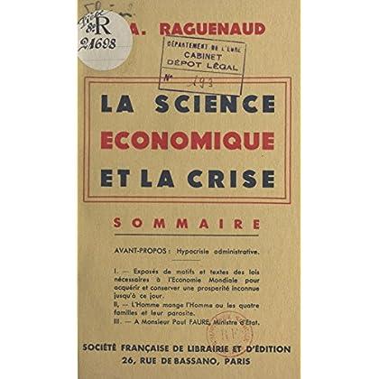 La science économique et la crise