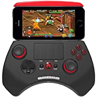 OOFAY Mando Inalámbrico Bluetooth V3.0 Game Controller con Android/iOS Smartphone Controller Joystick del Juego,Red