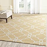 "3'6\ x 5'6\ , Gold / Ivory : Safavieh Four Seasons Collection FRS246D Hand-Hooked Gold and Ivory Indoor/ Outdoor Area Rug (3'6"" x 5'6"")"