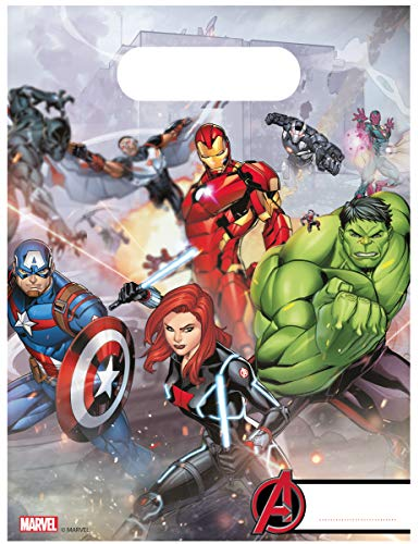 Procos Loot Bag Avengers Mighty, mehrfarbig, 5PR87969 (Marvels Avengers Party Supplies)