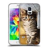 Head Case Designs Tabbykatze Katzen Soft Gel Hülle für Samsung Galaxy S5 Mini