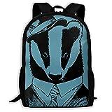 3D Printing Adult Shoulder Bag Honey Badger Don't Care School Backpack Bag ily Bag Hiking Bag for Men and Women