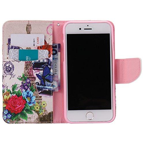 Voguecase® Pour Apple iPhone 7 Plus 5.5 Coque, Étui en cuir synthétique chic avec fonction support pratique pour Apple iPhone 7 Plus 5.5 (Dragonne-colère 01)de Gratuit stylet l'écran aléatoire univers fleur rouge et la tour 03