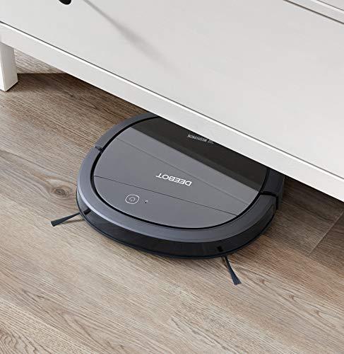 ECOVACS DEEBOT OZMO Slim10 - Aspirateur robot nettoyeur ultrafin - Pour sols durs  - Aspirateur sans fil programmable via smartphone et compatible avec Amazon Alexa