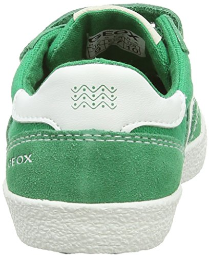 Geox Kiwi M, Baskets mode garçon - Multicolor (Green/Off White)