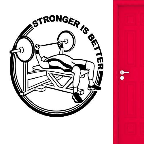 zhuziji Gym Wandaufkleber Fitness Muskulös Bodybuilding Stärker Ist Besser Vinyl Wandtattoos Büro Wohnkultur Vinilos Paredes Mu rot 68x68 cm -