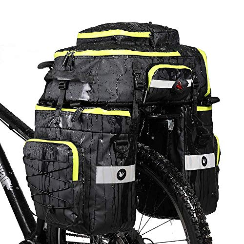 Rhinowalk Fahrradtasche Set für Fahrradgepäckträger, Satteltasche, Schultertasche, Laptop, Gepäckträger, Fahrradtasche, professionelles Fahrrad-Zubehör, 3 in 1