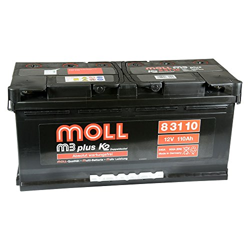 Moll M3 Plus K2 Doppeldeckel 83110 110Ah (850A Kälteprüfstrom)