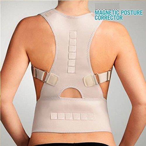 Nice soin-ceinture apoyo soporte Doc dolor Posture vértebra lumbar Corrector Ortesis Royal para hombro ajustable Aligner Colone vertebral, color beige