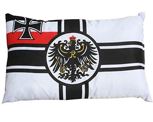 Flaggen Pehl Kaiserliche Marine Kissen Fan Artikel Auto Deko ca. 28 x 40 cm. -