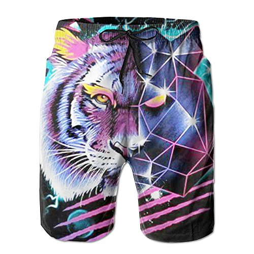 gentle-mens-denon-tiger-summer-beach-pants-shorts-thin-fifth-trousers-outdoors-wear