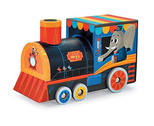 Crocodile Creek–Locomotora Tren 24piezas Jigsaw Puzzle + juego de vehículo