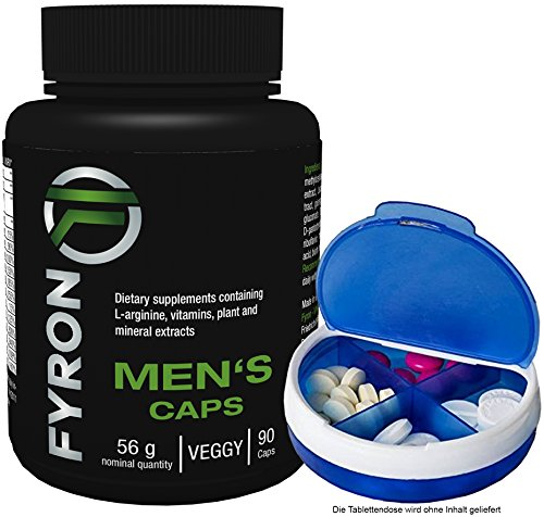 FYRON MENs - Fruchtbarkeit | Testosteronspiegel | Sperma + Pillen Dose (Sex Yohimbe)