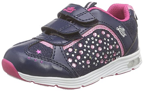 Lico Mädchen SHINE V BLINKY Low-Top, Blau (MARINE/PINK), 28 EU