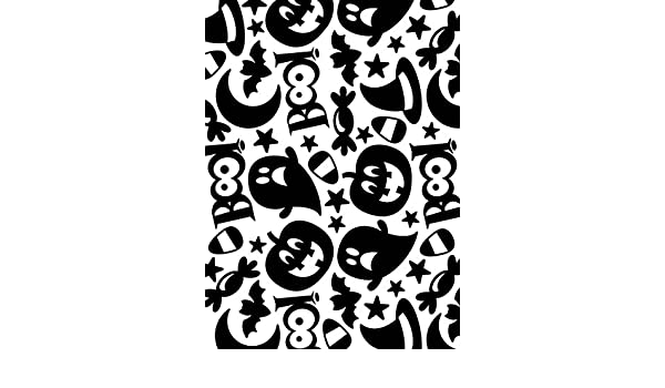 Darice Halloween Collage Embossing Template for Haunting Paper Crafts