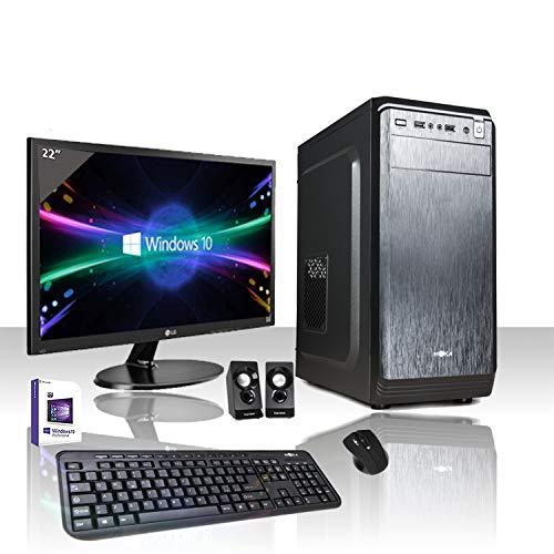 PC DESKTOP COMPLETO INTEL QUAD CORE I3-8100 3,6 GHZ 8°GEN/LICENZA WINDOWS 10 PRO 64 BIT/WIFI 300MBPS/HD 1TB/RAM 8GB DDR4 2400MHZ/MONITOR LED 22/TASTIERA E MOUSE USB/EDITING, UFFICIO, GRAFICA,4K,GAMING