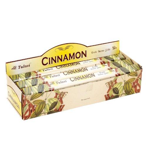 Aromatischer Zimt-Duft | Natürliche Aromatherapie Weihrauch | Räucherstäbchen | Box 6 Packungen mit je 20 Einheiten | Große Dauer -