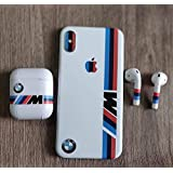 GADGETS WRAP Printed Apple iPhone X/iPhone Xs iPhone 10 Apple Airpods Mobile Skin - White Sports Brand Strips (Apple Airpods)