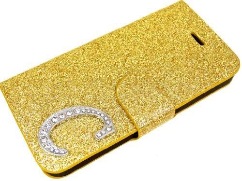 Esclusiva viola iphone 5 + 5C/5 C VIP Glamour cassa del rhinestone di scintillio di caso di vibrazione della copertura del sacchetto di caso di Shell con chiusura magnetica