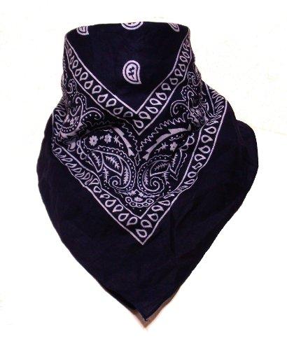 2012 Halsbänder (Alex Flittner Designs 12er Pack Bandanas mit original Paisley Muster in dunkelblau)