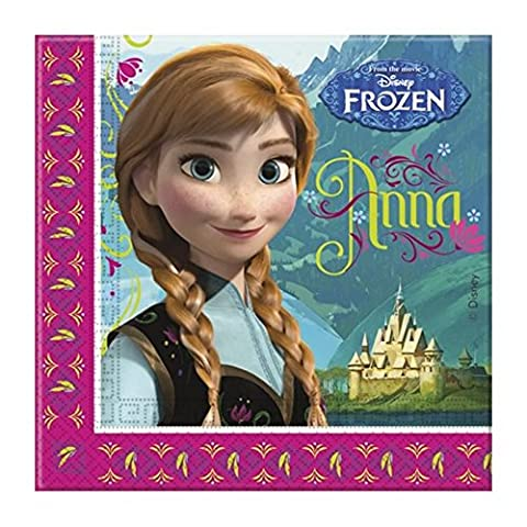 Unique Party Frozen Lunch Napkins (Pack Of 20) (One Size) (Blue/Pink)