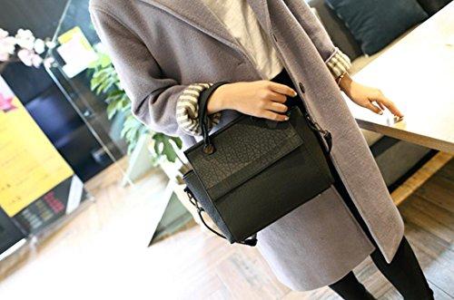 X&L Damen Jahrgang Mode Handtasche einfach Umhängetasche Umhängetaschen Black