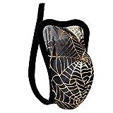 Agoky Herren C-String Transparent G-String Tanga Thong mit Spinne Netz Totenkopf Männer Erotik Kostüm reizvolle Unterwäsche sexy Dessous Schwarz One Size