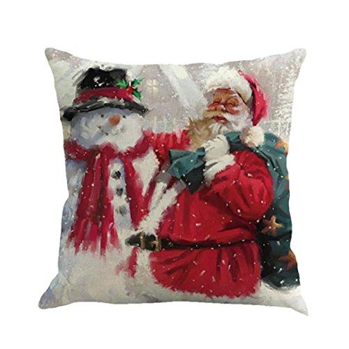 "LANDFOX 1 PC 45x45CM/17.7x17""Christmas Weihnachten Druck Färben Schlafsofa Home Decor Kissenbezug Kissenbezug (Farbe_B)"