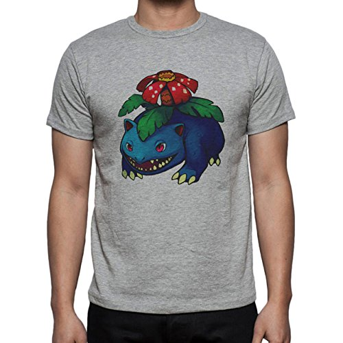 Pokemon Venusaur Third Generation Blue Dark Herren T-Shirt Grau
