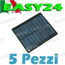 Lote 5piezas Mini célula solar panel solar fotovoltaico 12V 45mA celdas cellette pannellino