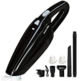 WAKYME 9KPa Handheld Vacuum, Cordless 2800mAh Rechargeable Cleaner for Upgraded Wet & Dry Cleaning Portable Car Vacuum Cleaners for Home and Office Cleaning
