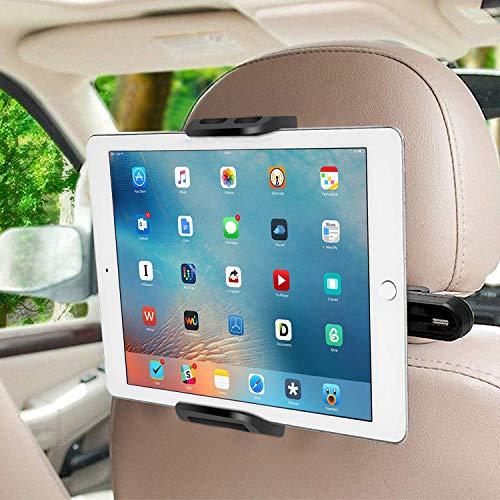 """SUCESO Soporte Tablet Coche Soporte para Tablet Soporte para Reposacabezas de Coche para 6-11"""" Pulgadas 360° Soporte para Tablet para iPad Pro Air Mini,Samsung Galaxy Tab,iPhone,Huawei,Otras Tablets"""