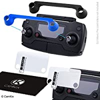 RC Protection Kit for DJI Mavic pro / Platinum - Set of 2 Joystick Transport Clips and 2 Clear Screen Protectors - Thumb Stick Guards - Locks Position, Protects Both Control Sticks - Double ProtectionScreen by CamKix