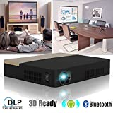 DLP Mini Beamer 3D Full HD Projektor Heimkino mit Android 4.4.4 Bluetooth 4.0 WIFI 2000 Ansi Lumen LED Videoprojektor mit HDMI USB AV VGA für TV PC Laptop Smartphone Kino Präsentation