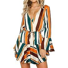 POLP Vestidos Cortos Mujer ◉ω◉ Mujer Vestido de Tejido,Vestidos Sueltos Mujer,