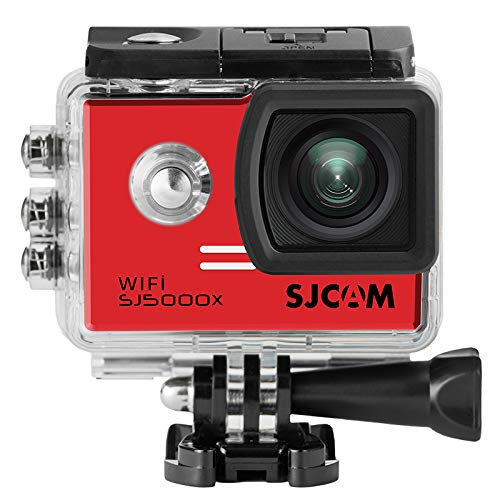 16GB TF Karte + SJCAM SJ5000X Elite Sport Action Kamera, Ultra-HD 2.0 Zoll LTPS WiFi 4K 24fps Sport DV 2.0 LCD NTK96660 Tauchen 30m wasserdichte Action Kamera (Red)