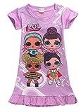 Vannie Lovely Dolls Mädchen Kleider Schlafanzug Nachthemd Locker Prinzessin Rock Schlauch Kleider Gutes Geschenk für Mädchen Tochter von 4 bis 10 Jahren PL 140