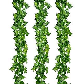 Romote 12 unidades 84ft planta Artificial guirnalda de hiedra artificial Ivy Vine para boda guirnalda falso follaje flores casa cocina jardín oficina boda decoración de la pared