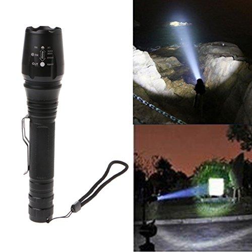 haia7k4k 10000 Lumen 5 Modi XML T6 LED 18650 Taschenlampe, tragbar Super Bright für den Innen- und Außenbereich Outdoor Sports, Camping, Radfahren, Jagd, Polizei Super Helle Led Keychain