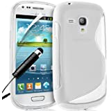 Supergets� Samsung Galaxy S3 mini I8190 Clear Wave Hydro Gel Case Covers, Screen Protector, Polishing Cloth and Mini Stylus