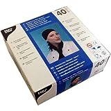 40 Bandana schwarz (moderne Koch-Kopfbedeckung zum Knoten Universalgröße)