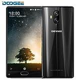 Smartphone 4G Pas Cher, DOOGEE MIX Lite Telephone Portable Debloqué sans Forfait (Écran: 5,2 Pouce - MT6737 Quad Core - 2G RAM+16G ROM - 13MP Double Caméras - Empreinte Digitale - Double SIM - Android 7.0) Noir