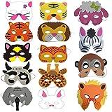 Fiesta Máscaras para Niños, 14 Hermosas y Lindas Máscaras De Animales Son Los Juguetes Favoritos para Todos Los Niños, Adecuados para Niños, Navidad, Halloween, Fiestas, Cumpleaños, Cosplay