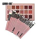 SMILEQ 18 Farben Schimmer Glitter Augen Schatten Puder Mattlidschatten Kosmetik Make Up (Pink)