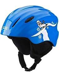 Tecno Pro casco de esquí infantil CS JR YJ-20 de esquiar infantiles azul Talla:extra-small