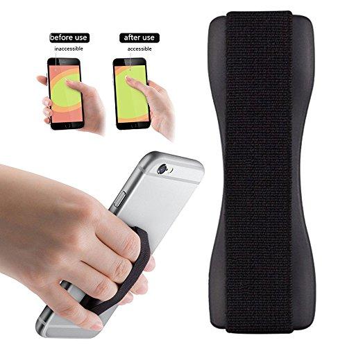 Tabletten Tmobile (2Ticks Samsung Galaxy J7 Prime T-Mobile Anti-Rutsch-elastische Tablette Handy Finger Griff Ring Halter Selfie Strap - Black)