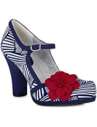 Ruby Shoo Tanya (Navy/White)