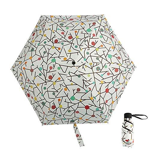 xinrongqu Neue 50 Falten Taschenschirm Tasche Schwarz Kunststoff Sonnenschirm Tragbare Schatten Sonnenschirm Candy Baum 48,5X6 Karat
